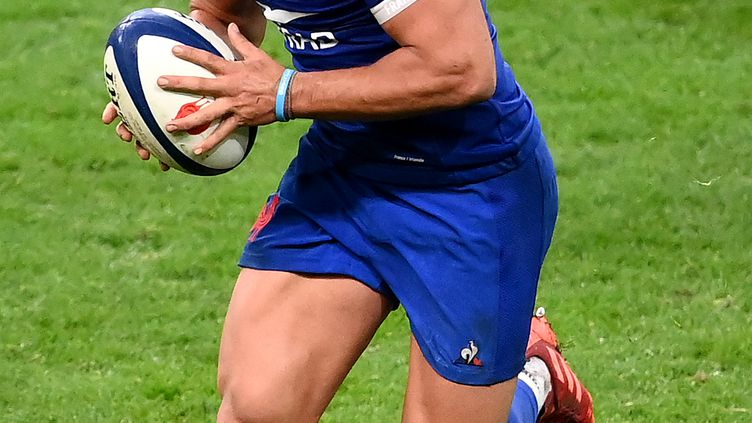 Arthur Vincent, centre du XV de France lors du match du Tournoi des Six Nations face à l'Irlande, le 31 octobre 2020.  (FRANCK FIFE / AFP)