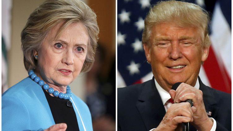 Photomontage de la candidate démocrate Hillary Clinton et du candidat républicain Donald Trump. (JIM URQUHART / REUTERS)