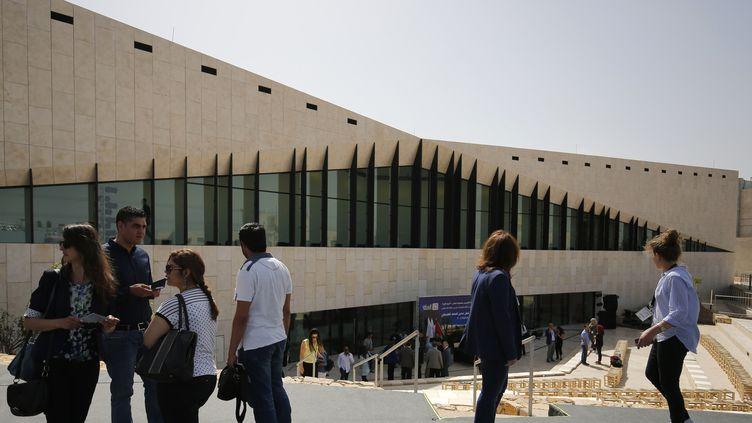 """Le """"Musée palestinien"""" de Bir Zeit de l'extérieur ici en 2016  (ABBAS MOMANI / AFP)"""