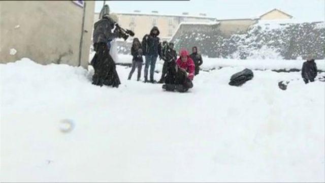 Intempéries : la Corse sous la neige