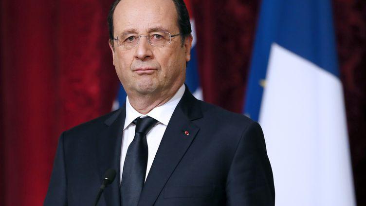 François Hollande, le 3 février 2014, à l'Elysée (Paris). (PATRICK KOVARIK / AFP)