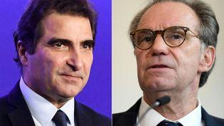 Christian Jacob (à gauche), Renaud Muselier (à droite). (ALAIN JOCARD / AFP)