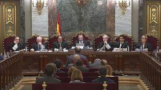 Le procès contre les indépendantistes catalans se termine, mercredi à Madrid. (SPANISH SUMREME COURT / HANDOUT / MAXPPP)