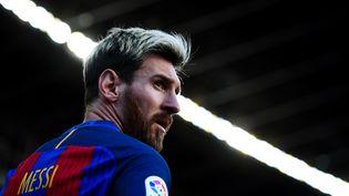 L'attaquant argentin du FC Barcelone Lionel Messi lors d'un match de championnat contre La Corogne, le 15 octobre 2016 au Camp Nou. (DAVID RAMOS / GETTY IMAGES EUROPE)