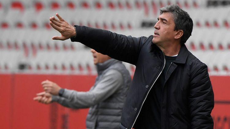 David Guion, futur ex-entraîneur de Reims, le 11 avril 2021 (Nicolas TUCAT / AFP) (NICOLAS TUCAT / AFP)