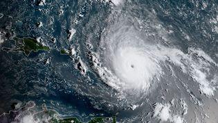 L'ouragan Iran, le 5 septembre 2017, photographié parl'Agence américaine d'observation océanique et atmosphérique. (HO / NOAA/RAMMB/AFP)