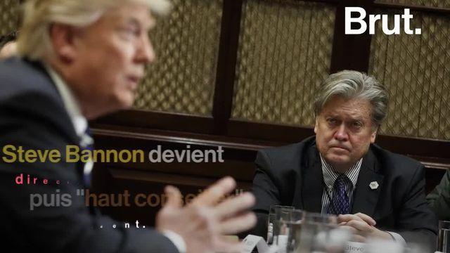 Ancien conseiller de Donald Trump et figure de l'ultra-droite américaine, Steve Bannon était l'invité du congrès du Front national à Lille le samedi 10 mars.