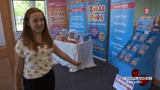 COMPLÉMENT D'ENQUÊTE / FRANCE 2.Enfants patrons : à 11 ans, elle a vendu pour 1 million de dollars de sucettes sans sucre (COMPLÉMENT D'ENQUÊTE / FRANCE 2)