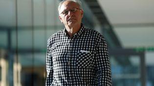 Bernard Sainz à son arrivée au tribunal de Caen (Calvados), le 4 juillet 2017. (CHARLY TRIBALLEAU / AFP)