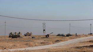 Les forces kurdes àl'est de Mossoul (Irak), le 17 octobre 2016. (AZAD LASHKARI / REUTERS)