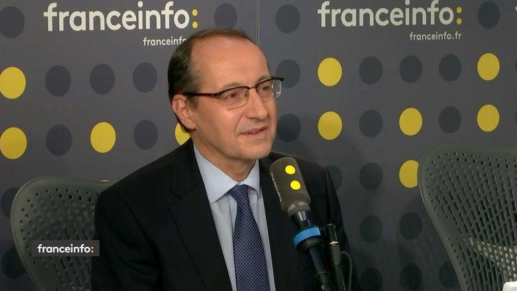 Marc Feuillée, leprésident du syndicat de la presse nationale, était l'invité de franceinfo jeudi 24 octobre. (FRANCEINFO / RADIOFRANCE)