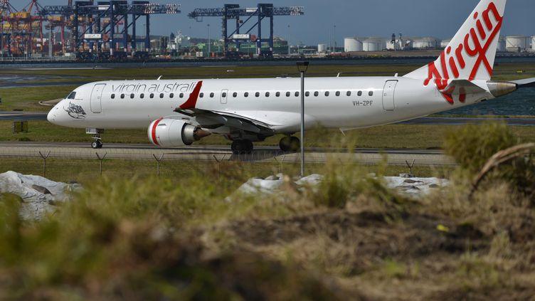 Un avion de la compagnie Virgin Australia, le 28 août 2014 à Sydney (Australie). (PETER PARKS / AFP)