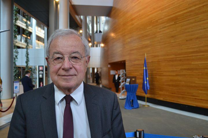 Alain Lamassoure, au Parlement européen à Strasbourg, le 17 avril 2019. (NOEMIE BONNIN / RADIO FRANCE)