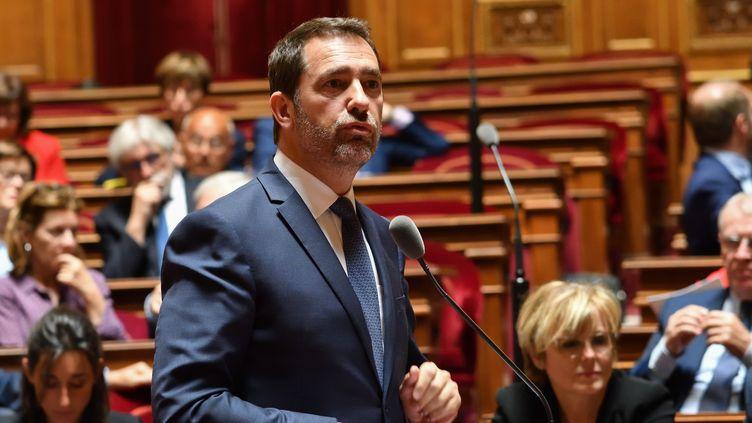 Christophe Castaner, au Sénat, le 16 mai 2019. (DANIEL PIER / NURPHOTO / AFP)