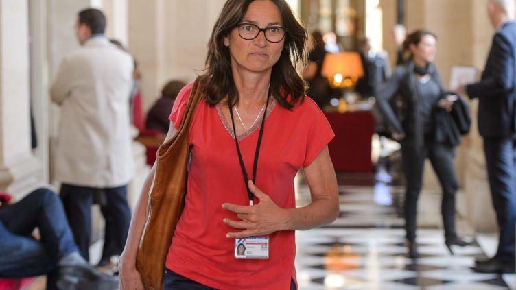 La députée LREM Sandrine Mörch se mobilise pour les civils victimes de guerre. (CHRISTOPHE PETIT TESSON/MAXPPP)