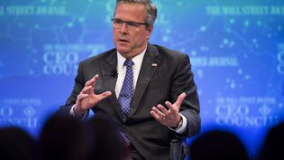 Jeb Bush, à Washington (Etats-Unis), le 1er décembre 2014. (JIM WATSON / AFP)