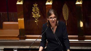 Aurore Bergé, députée La République en marche (LREM) des Yvelines à l'Assemblée nationale, à Paris, le 15 octobre 2019. (CHRISTOPHE ARCHAMBAULT / AFP)