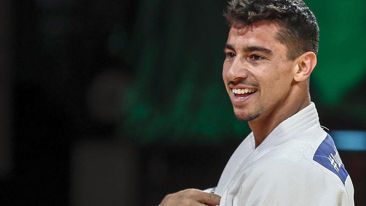 Le judoka israélienTal Flicker lors d'une compétition à Abu Dhabi, le 27 octobre 2017. (REUTERS)