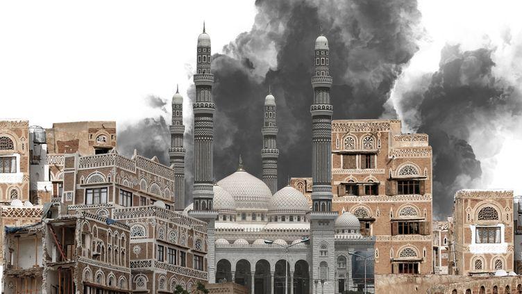 Sanaa, au Yémen, sous les bombes (image d'illustration). (BAPTISTE BOYER / FRANCEINFO)