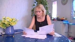 Maryse Warin, destinataire de l'astronomique facture d'eau en 2012. (FRANCE 3 CHAMPAGNE ARDENNES )