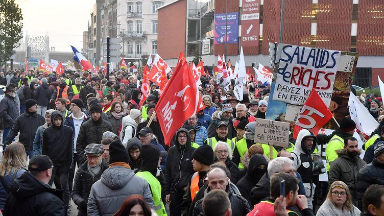 Manifestation du 5 décembre 2019 à Dunkerque (Nord). (MAXPPP)