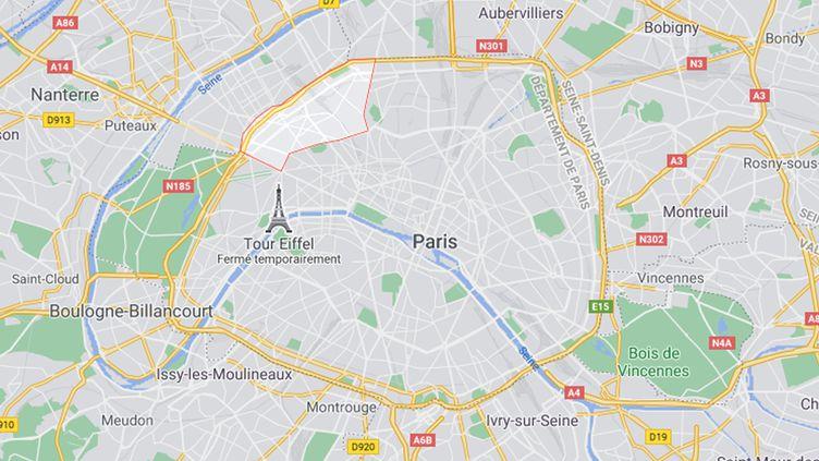 Un bébé de 9 mois a été retrouvé dans l'appartement du 17e arrondissement de Paris. (GOOGLE MAPS)