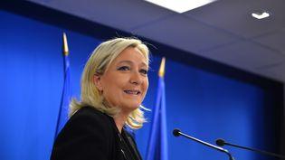 Marine Le Pen, le 22 mars 2015 à Paris, après l'annonce des premiers résultats des élections départementales. (MUSTAFA YALCIN / ANADOLU AGENCY / AFP)