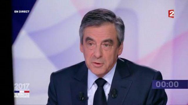 """Présidentielle : revivez le passage de François Fillon dans """"15 minutes pour convaincre"""" sur France 2"""