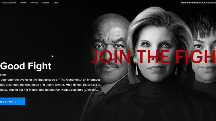 """Le site officiel de """"The Good Fight"""". (CBS)"""