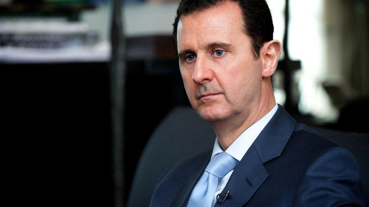 Le président syrien,Bachar Al-Assad, à Damas (Syrie), le 15 janvier 2015. (SANA / AFP)