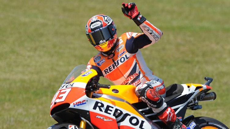 Marc Marquez a remporté sa cinquième victoire en cinq courses cette saison. (JEAN-FRANCOIS MONIER / AFP)