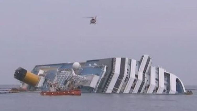 Le Concoardia échoué - image du mardi 31 janvier 2012 (Reuters)