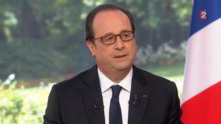 François Hollande,le 14 juillet 2016, sur France 2. (FRANCE2 / FRANCETV INFO)