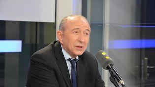 Gérard Collomb,sur franceinfo. (RADIO FRANCE / JEAN-CHRISTOPHE BOURDILLAT)