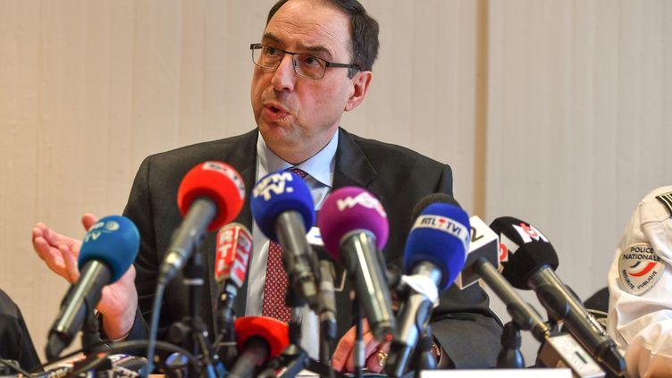 Le procureur de Lille (Nord), Thierry Pocquet du Haut-Jussé à Lille, le 30 avril 2018. (PHILIPPE HUGUEN / AFP)