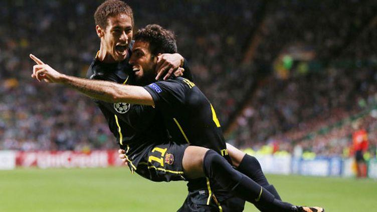 Le duo du FC Barcelone Neymar et Cesc Fabregas