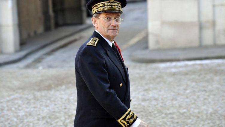 Le préfet de police de Paris,Michel Gaudin,au Palais de l'Elysée le 7 janvier 2009. (GERARD CERLES / AFP)