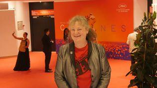 Lisa Nesselson à l'espace presse du Palais des festivals. (Lorenzo Ciavarini Azzi/franceinfo Culture)