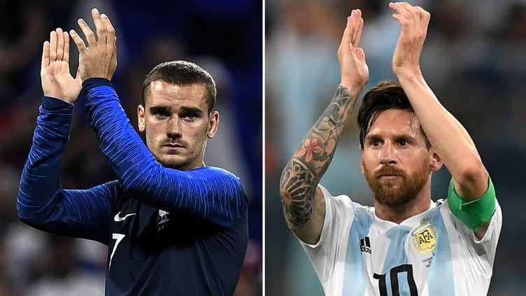 Antoine Griezmann et Leo Messi vont s'affronter en huitièmes de finale de la Coupe du monde 2018. (JEFF PACHOUD / AFP)