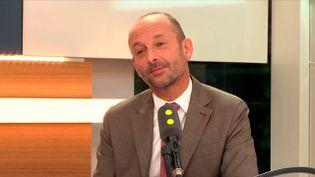 Thierry Beaudet, président du Groupe VYV, le 13 septembre 2017 sur franceinfo. (FRANCEINFO / RADIOFRANCE)