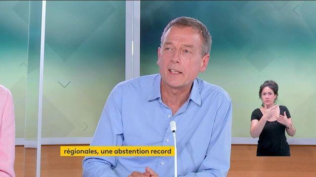 """Elections régionales et départementales : """"l'abstention ne bénéficie à personne (...) mais il peut y avoir une prime aux sortants"""", assure Jean-Philippe Moinet, politologue et fondateur de la Revue Civique"""