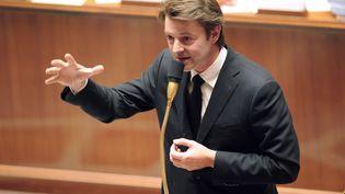 Le ministre de l'Economie et des Finances François Baroin lors d'une scéance de questions au gouvernement à l'Assemblée nationale, le 25 octobre 2011. (MEHDI FEDOUACH / AFP)