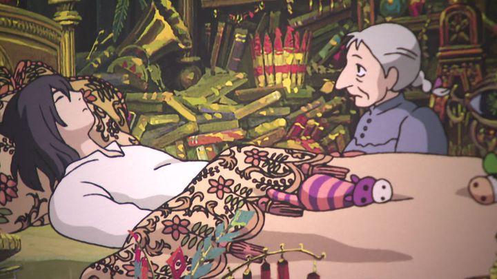 Cette scène tirée du Château ambulant d'Hayao Miyazakia été choisie pour être transposée en tapisserie. (France 3 Limousin / Y. Robin)
