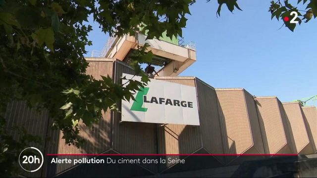 Pollution : du ciment Lafarge dans la Seine