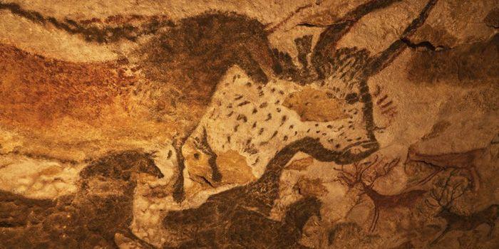 Peinture murale de la grotte de Lascaux (fac-similé de Lascaux II) en Dordogne.  (AFP - hemis.fr - Jean-Daniel Sudres)