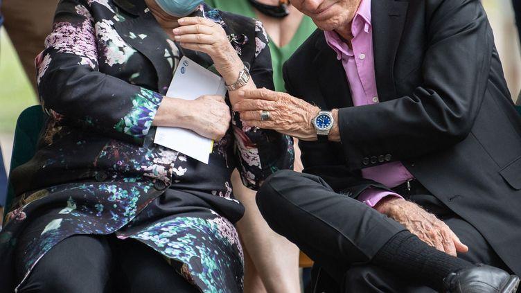 La ministre de la Culture, Roselyne Bachelot, et l'ancien ministre Jack Lang à Strasbourg, le 10 juillet 2020. (PATRICK HERTZOG / AFP)