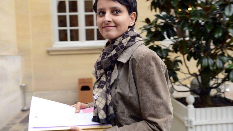 La porte-parole du gouvernement, Najat Vallaud-Belkacem, à Paris, le 4 janvier 2013. (BERTRAND GUAY / AFP)