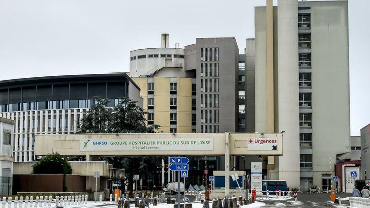 L'entrée de l'hôpital de Creil (Oise), le 23 janvier 2019. (PHILIPPE HUGUEN / AFP)
