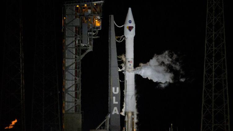 Le lancement de la sonde Lucy, en Floride, le 16 octobre 2021. (BILL INGALLS / NASA HANDOUT / MAXPPP)