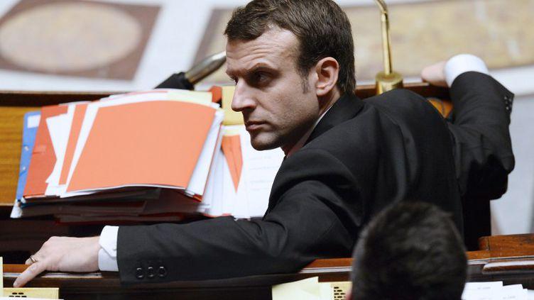Le ministre de l'Economie, Emmanuel Macron, à l'Assemblée nationale, le 14 février 2015. (ALAIN JOCARD / AFP)